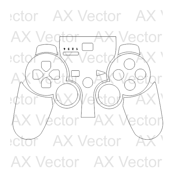 PS3 Controller Outline template