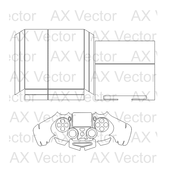 ps4 console controller vector template