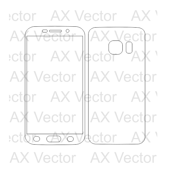 Samsung Galaxy S6 Outline Template
