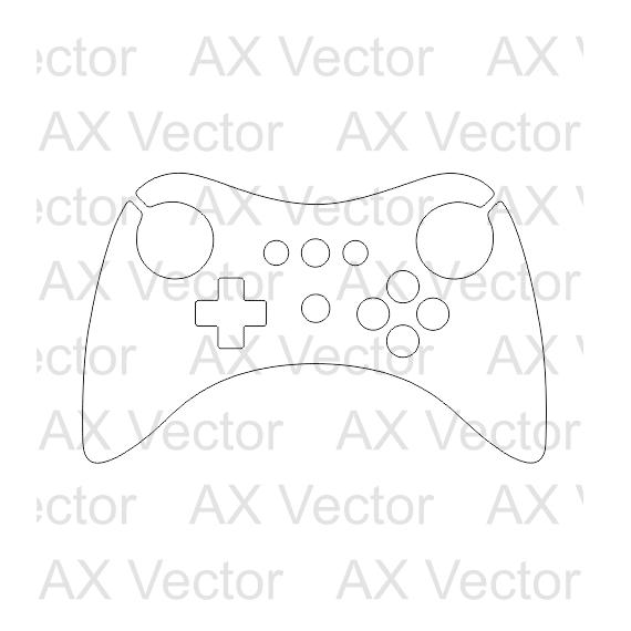 Nintendo Wii U Controller Vector Template