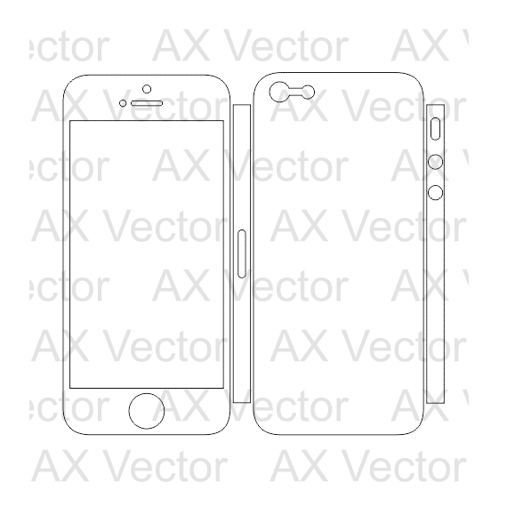 IPhone 5 And 5s Vector Template