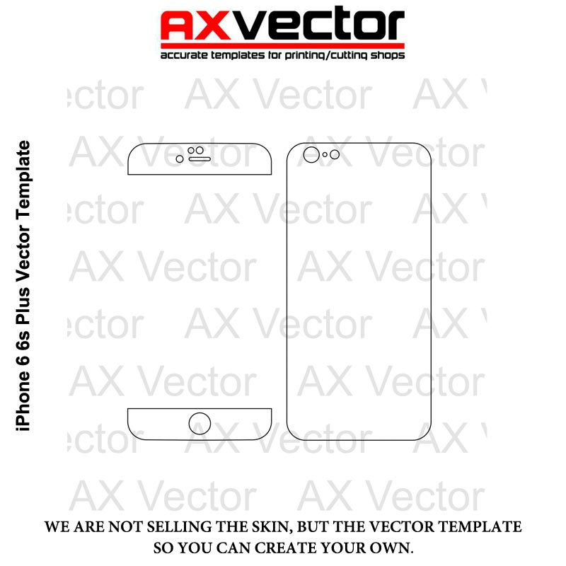 IPhone 6 6s Plus Vector Template