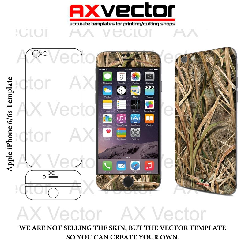 Iphone 7 plus vector template accurate contour cut for for Iphone 5 sticker template
