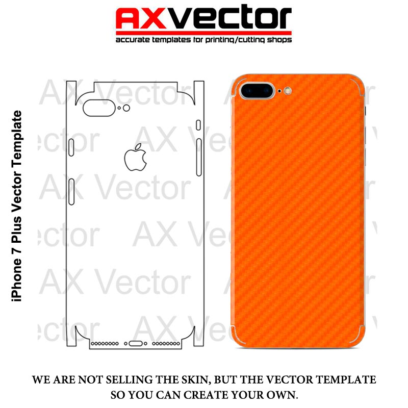 IPhone 7 Plus Vector Template