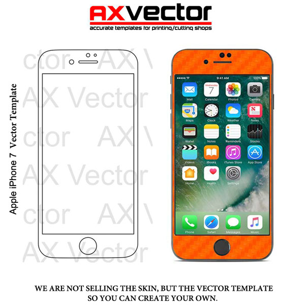 Iphone 7 Vector Template Accurate Contour Cut For Skins