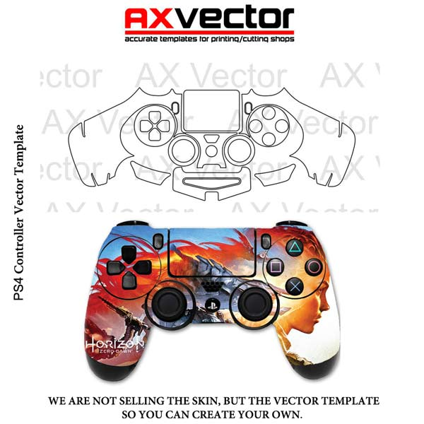 PS4 Controller Vector Template