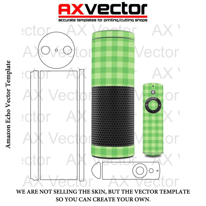 Amazon Echo Vector Template