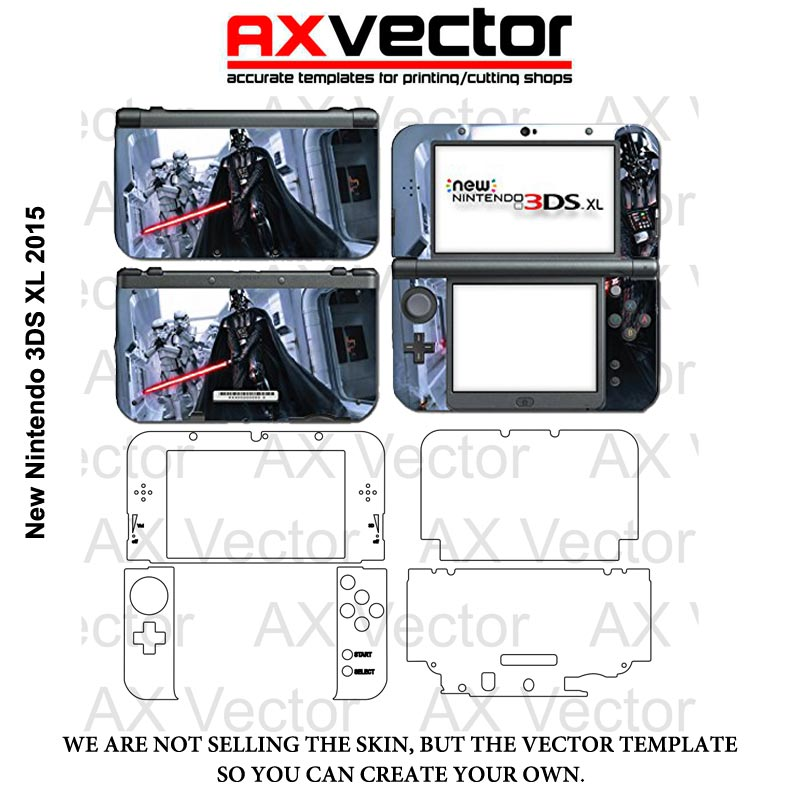 Nintendo 3DS XL 2015 Vector Template