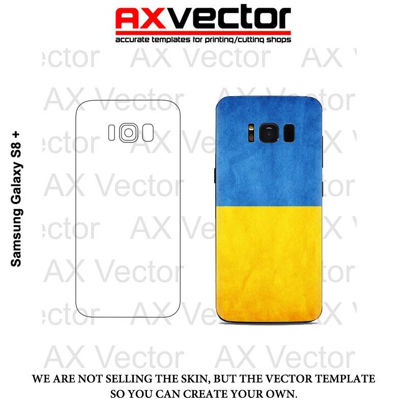 Samsung Galaxy S8 Plus S8 Vector Template Contour Cut