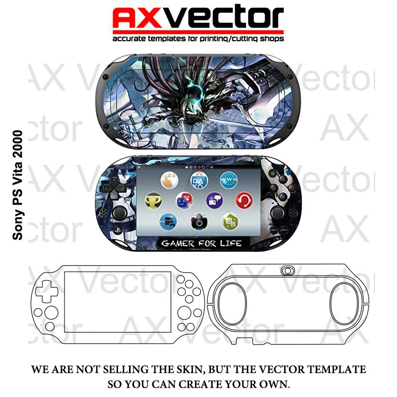 sony ps vita 2000 vector template accurate contour cut for skins