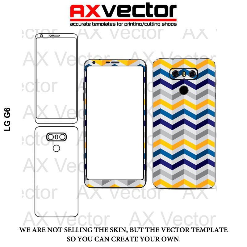 Lg G6 Vector Template Accurate Contour Cut For Skins Or