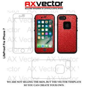 Lifeproof Fre iPhone 7 Vector Template