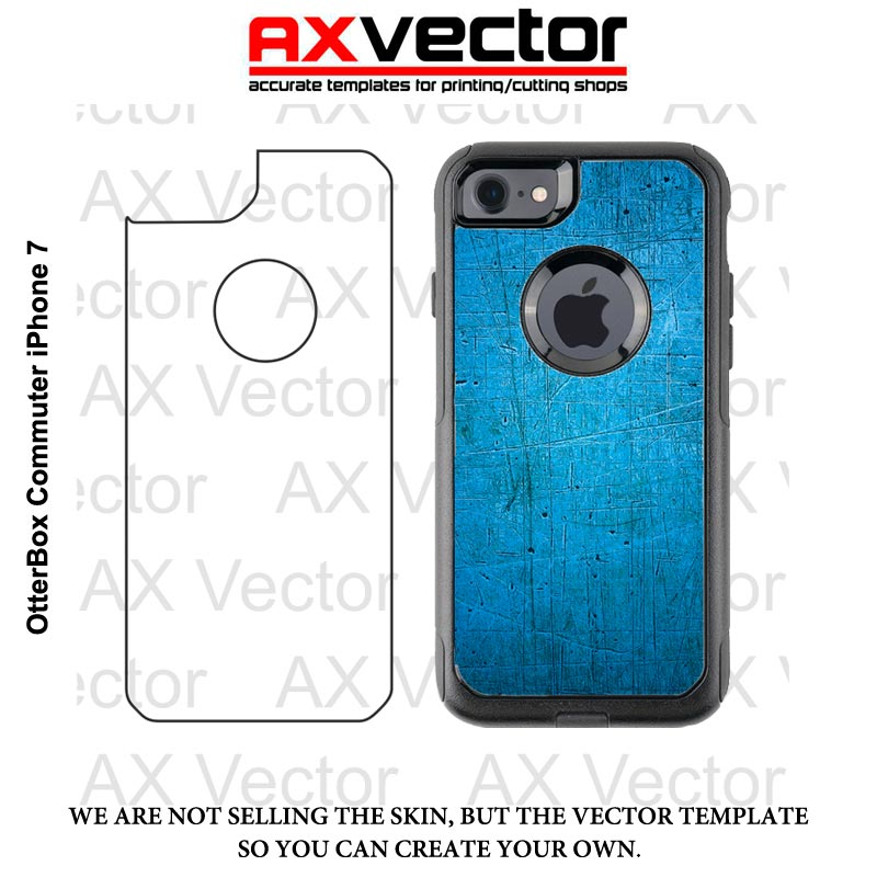 pretty nice 0df27 8b007 OtterBox Commuter iPhone 7 Vector Template