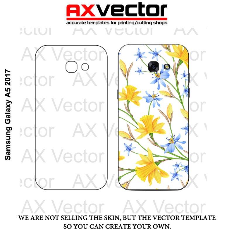 Samsung Galaxy A5 2017 Vector Template Contour Cut File
